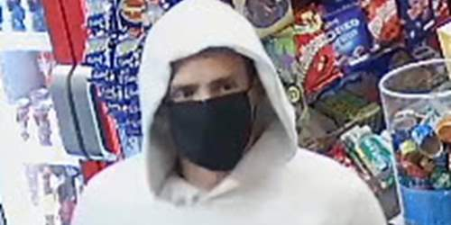 CCTV image released following robbery at Accrington convenience store