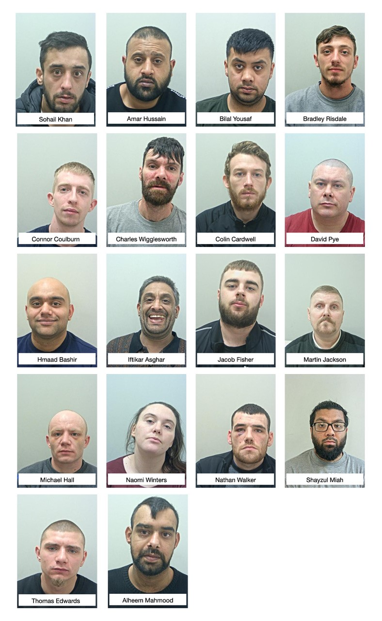 Members of two county lines gangs will spend more than 50 years behind bars